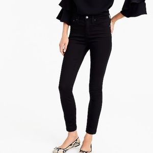 """J crew 9"""" high rise stretchy toothpick jeans black"""